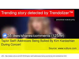 taylor swift fan club address taylor swift addresses being bullied by kim kardashian during concert