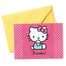 hello kitty thank you cards u2014pack of 10 with envelopes note