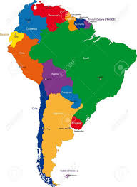map of cities in south america colorful south america map with countries and capital cities