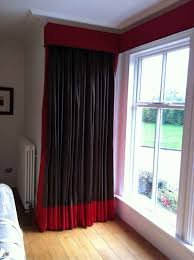 stunning black and red curtains for modern touch atzine com brown