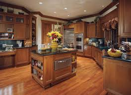 country style rustic wooden custom kitchen cabinet with black