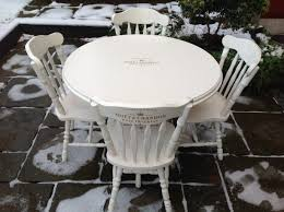 chairs shabby chic furniture dining table french white and