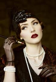 dark 1920 s flapper look by nina and muna