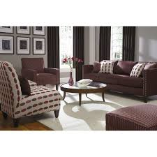 Maroon Sofa Living Room Decorating Traditional Living Room Design With White Rowe