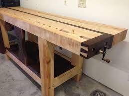 best workbench surface bench decoration split top roubo workbench finewoodworking roubo workbench design