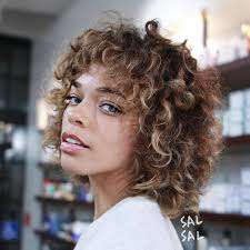 short curly hair cut with rounded layers hair pinterest