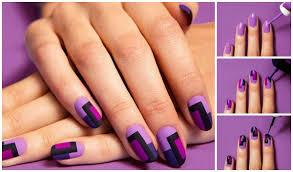 how to diy chic mod mani striped nail art