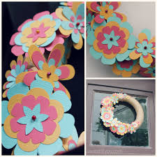 easy diy paper flower wreath sweet lil you
