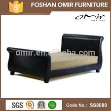 Faux Leather Upholstere Queen Extra Length Bed Buy Queen Size
