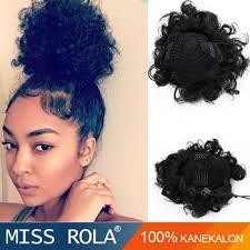 black hair bun high temperature fiber hair bun chignon hair pieces bun hair