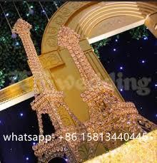 Eiffel Tower Table Centerpieces Crystal Beaded Stand Eiffel Tower Candle Holder Centerpieces For