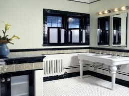 astonishing design of retro bathroom ideas with shiny black tile