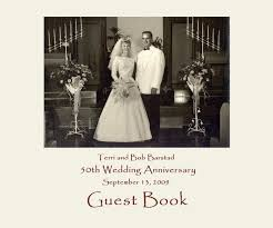 anniversary guest book bob and barstad 50th anniversary by guest book blurb books