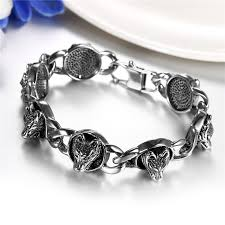 stainless steel charm bracelet images Boniskiss 2017 wolf stainless steel charm bracelet for men diy jpg