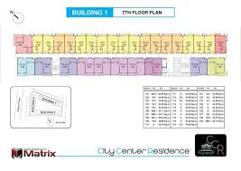 Condo Building Plans by City Center Residence Condo Floor Plans Building 1 7 Floor