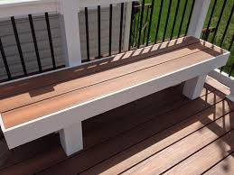 Cedar Deck Bench Bench Deck With Built In Bench Perry Hall Custom Deck Builders