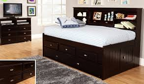 discovery world furniture espresso twin size bookcase day bed