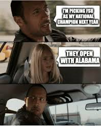 Florida State Memes - impicking fsu as my national chion netyear the open with