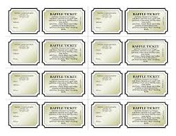 free printable raffle ticket template download bamboodownunder com