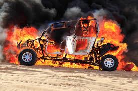 polaris rzr 4 catches fire in glamis sand dunes extreme 4x4