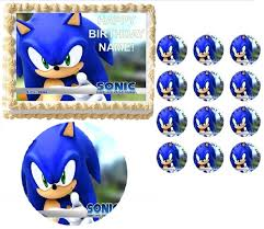 sonic the hedgehog cake topper the hedgehog party edible cake topper frosting sheet all sizes