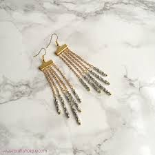 easy earrings how to make beautiful waterfall earrings easy earrings diy