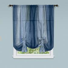 Tie Up Curtain Shade Ombre Blue Crushed Fabric Tie Up Curtain Shade Curtain Bath Outlet