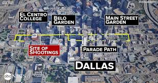 Dallas Map by Deadly Dallas Police Shooting How The Ambush Unfolded Abc News