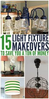 Mason Jar Bathroom Light by 15 Light Fixture Makeovers To Save You A Ton Of Money Lights