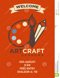 Craft Invitation Card Invitation Card To Art Craft Lesson With Logo Emblem And Address