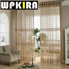 likeable modern window curtains coffee floral beige fancy curtain
