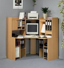 Small Computer Printer Table Amazing Corner Computer Desk Design With Ply Wood Material Also