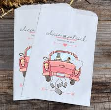 candy bar bags personalized wedding candy bags just married car personalized favor bags