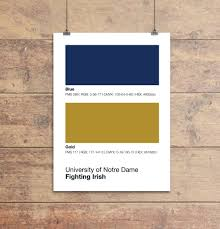 notre dame fighting colors print sproutjam