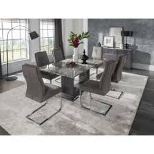 marble dining room set donatella 220cm grey marble dining table 8 chairs dta 220 dta 111