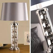 Crystal Table Lamps Deco Newton Crystal Table Lamp Grey Shade