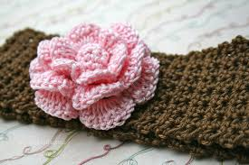 crochet flower headband crochet patterns baby headband pattern instant