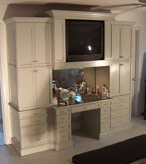 bedroom cabinet and makeup table built in i want sans tv in the