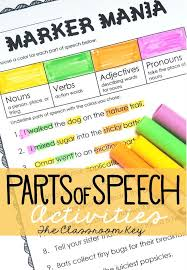 best 25 parts of speech activities ideas on pinterest parts of