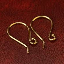 top earing 14k gold earring top simple ear wire in solid gold designs