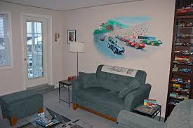 the chicane 1961 monaco grid on the living room wall