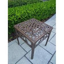 Umbrella Side Table Oakland Living Cast Aluminum Lounge Set Chaise Lounge W Wheels