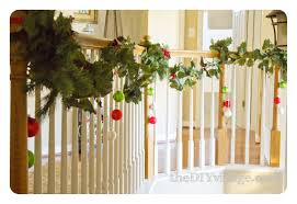 Banister Decor Christmas Banister Garland The Diy Village