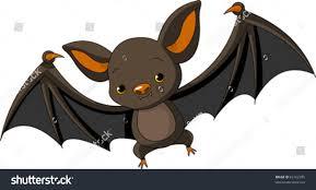 illustration cute cartoon halloween bat flying stock vector