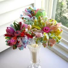 flower arrangements home decor fabric bouquet fabric flowers button flowers flower arrangement