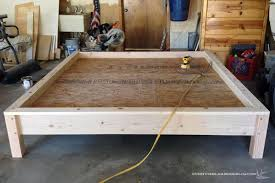 Making A Wooden Platform Bed by King Bed Build Plan