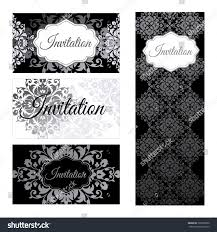 Invitation Business Cards Set Invitations Templates Business Cards Silver Stock Vector