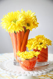 Daisy Centerpiece Ideas by Adorable And Easy Easter Carrot Centerpiece Easter Table