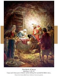 bible story picture of the birth of jesus from matthew 1 18 25