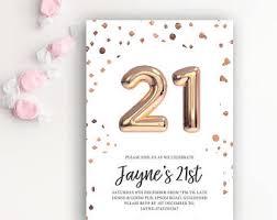 21st birthday invite etsy